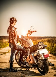 Photo of woman riding a motorcycle in WI | Online Therapy in WI | Synergy eTherapy